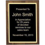 Bevel Solid Walnut Plaque Achievement Awards