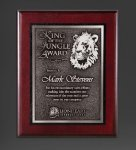 Cherry Finished Panel and Silver Tone Plate Achievement Awards