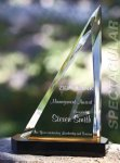 Spectacular Slant Color Accented Acrylic Award Achievement Awards