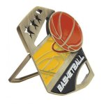 Basketball Color Medal Free Standing Or With Ribbon Basketball Trophy Awards