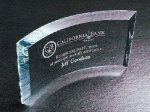 Curved Beveled Clear Optical Crystal Awards
