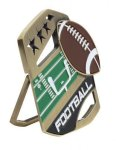 Football Color Medal Free Standing Or With Ribbon Color Medal Awards
