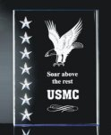 3 Dimensional Stars on Side Plaque Colored Acrylic Awards