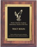 Cherry Finish Recognition Plaque Employee Awards