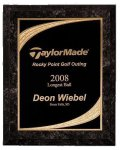 Black Marble Finish Majestic Plaque Employee Awards