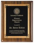 Walnut Piano Finish Recognition Plaque Employee Awards