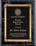 Black Marble Finish Recognition Plaque Employee Awards