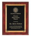 Red Wood Grain Recognition Plaque Employee Awards