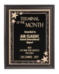 Solid Black Finish Recognition Plaque Employee Awards
