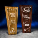 Acrylic Plaque with Stained Wood Employee Awards