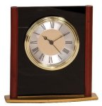 Mahogany Finish Column Clock Award Executive Gift Awards