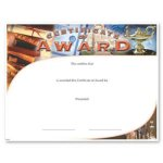 Award Fill in the Blank Certificates