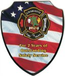 Shield Recognition Plaque Fire and Safety Awards