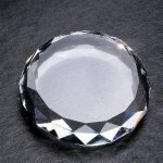Gem Cut Round Paper Weights