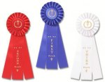 Rose 3 Classic Three Streamer Rosette Award Ribbon Rosette Award Ribbons