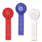 Rose 1 Classic Single Streamer Rosette Award Ribbon Rosette Award Ribbons
