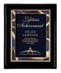Black Piano Finish Plaque Sales Awards
