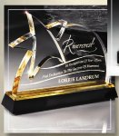 Gold Lasered Star Accent On Base Sales Awards