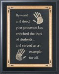 Solid Black Finish Recognition Plaque Sales Awards