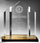 Triple Peak Top Color Accented Acrylic Award Sales Awards