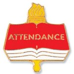 Attendance Lapel Pin Scholastic Trophy Awards