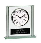 Square Glass Desk Clock Secretary Gift Awards