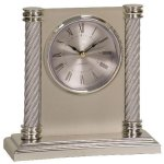 Silver 2-Column Plastic Clock Award Secretary Gift Awards
