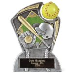 Large Spin Award Softball Spin Resin Trophy Awards