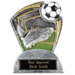 Large Spin Award Soccer Spin Resin Trophy Awards