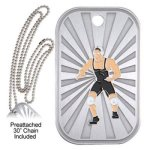 Wrestling Dog Tag Wrestling Trophy Awards